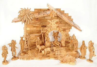 Large Hand Carved Wooden Nativity Set Holy Land Treasures Usa